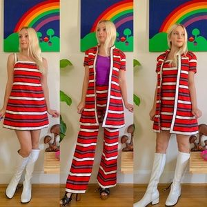 Mod 1960s 3 piece mod and match coordinating set